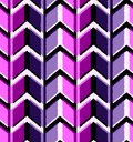 3D drawing zigzag in fashionable colors of ultraviolet and blue. Seamless pattern geometric ornament.