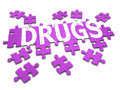 D drugs jigsaw render of a spelling the word Stock Photo