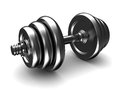3d dumbell Royalty Free Stock Photo