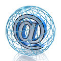 D e mail symbol in the design of information related to internet Stock Image