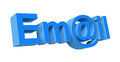 D email symbol white background Royalty Free Stock Photo