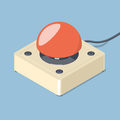 3D Emergency start stop red button. Royalty Free Stock Photo