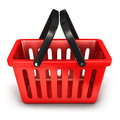 D empty shopping basket white background image Royalty Free Stock Photo
