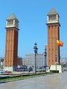 D'espana de la plaza Fotos de archivo