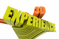 D experience design text and white background Royalty Free Stock Photography