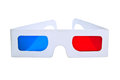 D eyeglasses on white background Stock Photo