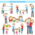 D family collection illustration of of people Stock Image