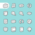3D Fat Line Icons Royalty Free Stock Photo