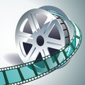 D film reel vector realistic Stock Photography