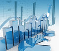 3d finance graphics Royalty Free Stock Photo