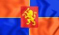 3D Flag of Krasnoyarsk, Russia.