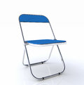 D folding chair illustration of blue on white background Royalty Free Stock Photos