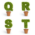 D font pot plants made out of Stock Photo