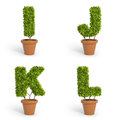 D font pot plants made out of Stock Image