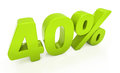 D forty percent off discount percentage illustration Stock Image