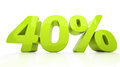 D forty percent off discount percentage illustration Royalty Free Stock Photo
