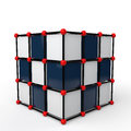 3d futuristic tech cube structure Royalty Free Stock Photo
