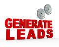 D gear generate leads illustration of phrase genrate and gears Royalty Free Stock Image