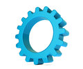 D gear in white background blue Stock Photography