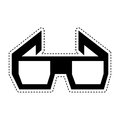 3d glasses isolated icon