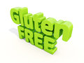 D gluten free icon on a white background illustration Stock Images