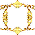 D gold frame white background Royalty Free Stock Images
