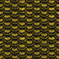 3d gold scales seamless texture Royalty Free Stock Photo