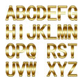 D golden alphabet isolated in white Royalty Free Stock Photography