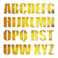 D golden alphabet isolated in white Stock Image