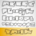 3D Graffiti font alphabet