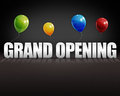 D grand opening balloons black background on dark stage Royalty Free Stock Photo