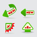 D green arrow labels on gray background Royalty Free Stock Photo