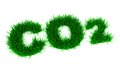D green co formula carbon dioxide to the lawn texture Stock Photo