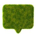 D green grass bubble talk on white background see my other works in portfolio Stock Images