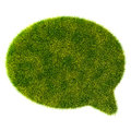 D green grass bubble talk on white background see my other works in portfolio Royalty Free Stock Photos