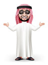 3D Handsome Saudi Arab Man in Traditional Dress Royalty Free Stock Photo