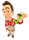 3d handyman drawing positive check mark Royalty Free Stock Photo