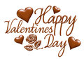 D happy valentines day in chocolate design i did software Royalty Free Stock Image