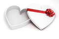 D heart shaped gift box on white background Royalty Free Stock Photos