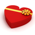 D heart shaped gift box on white background Royalty Free Stock Photo