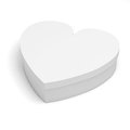 D heart shaped gift box on white background Stock Images
