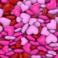 D hearts in red rose and pink Stock Photography