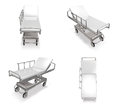 D hospital camp bed range four set Stock Images