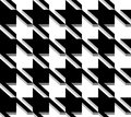 D houndstooth weave vector seamless pattern black and white background Stock Image