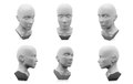3D human head mannequin Royalty Free Stock Photo