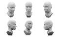 3D human head mannequin
