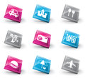 D icons vector set of travel Royalty Free Stock Photo