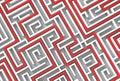 3d illusrated maze isolated on white background. 3D illustrating