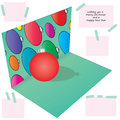 3d illustration Christmas ball Royalty Free Stock Photo