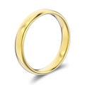 3D illustration classic yellow gold ring